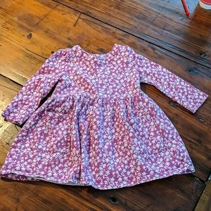 Adorable pink floral dress with pockets
